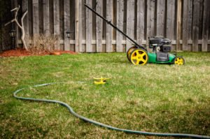 Lawnmower and Sprinkler