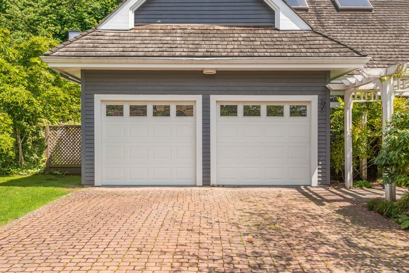 a garage of a house
