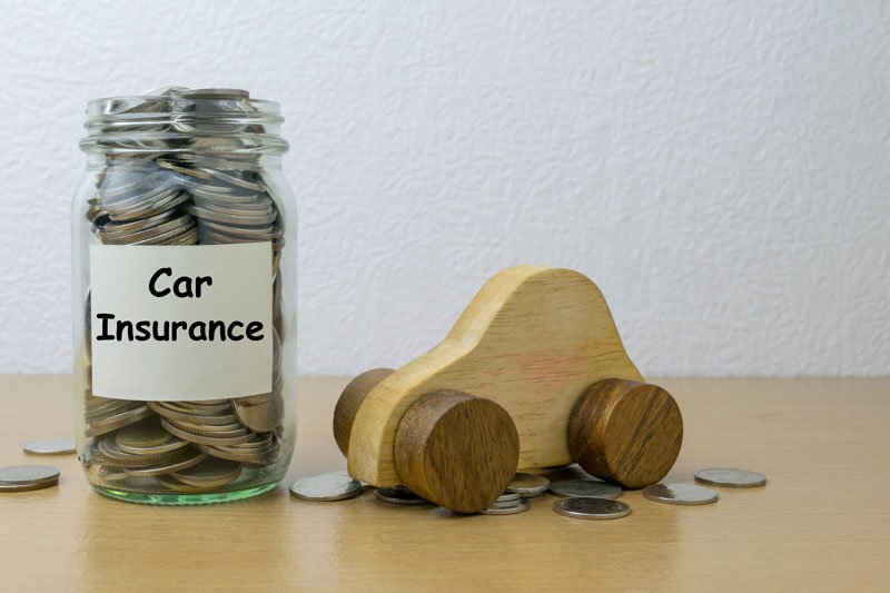 car insurance and saving money concept