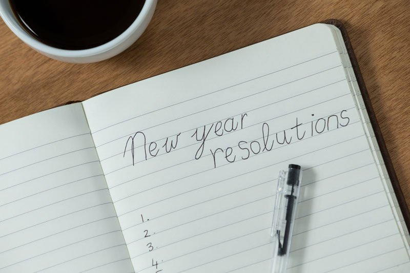 written new year resolutions