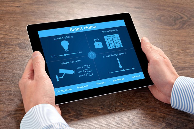 a smart home tablet